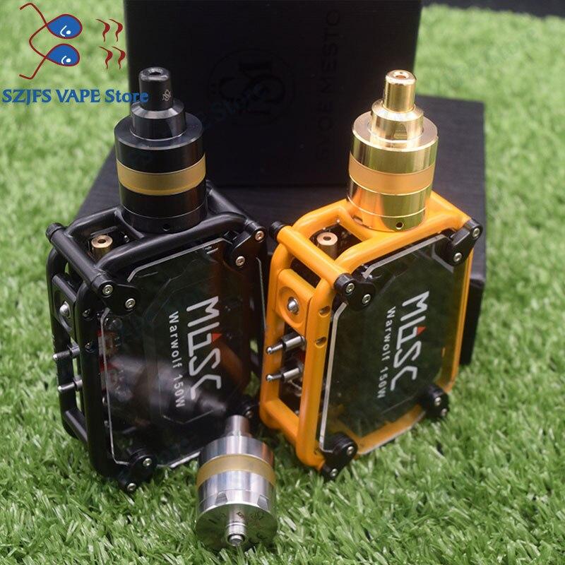 HOT Warwolf Kit With Yftk KAYFUN LITE Rta 150w E-cigarette Laser Vape Box Mod Instant Large Output 3500mAh Battery Goon 1.5RDA