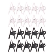 10Pcs/Set Cable Cord Clip Clamp Collar Lapel Shirt Holder For Headphone Earphone Drop Shipping Support(China)