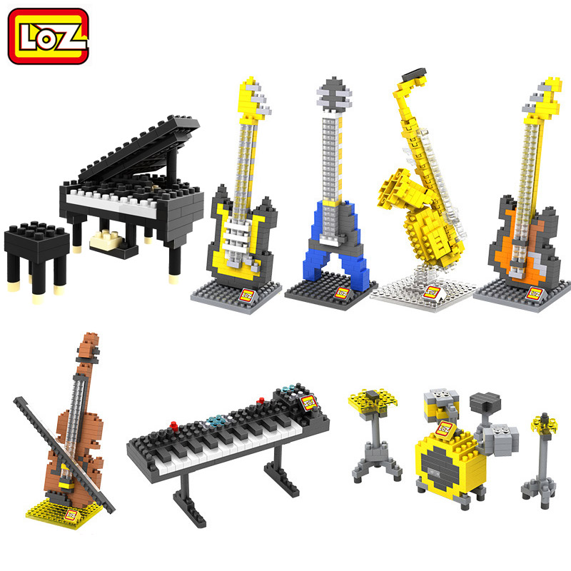 2017 loz musical instrument series building block toy for Cost of building blocks in jamaica 2017