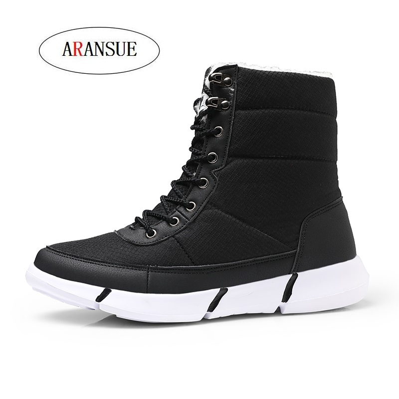 ARANSUE 2018 Winter s new suede and thick waterproof uggs Youth leisure and  old age warm cotton 1b50f24e538c