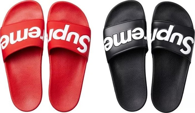 fdecefb3ca18 14AW Supreme slippers man woman streetwear-in Slippers from Shoes on ...