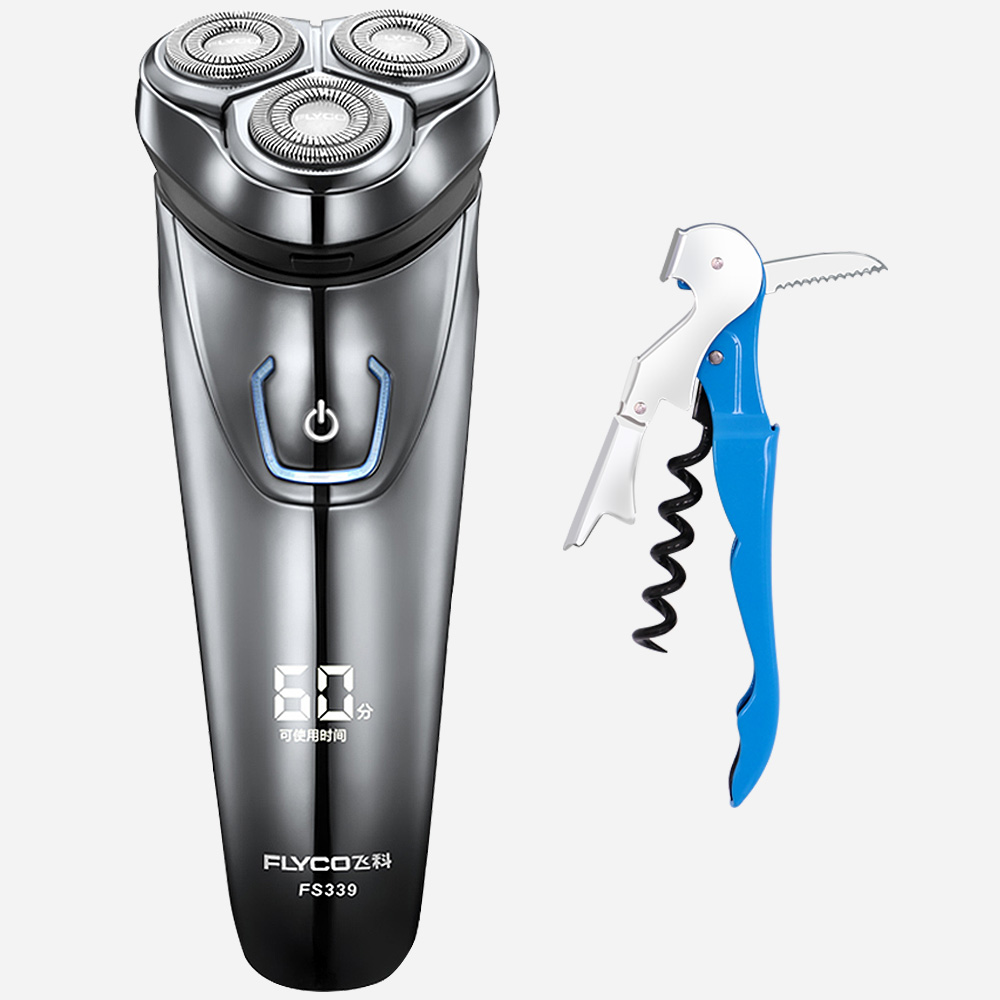 Flyco FS339-G Sea Horse Knife IPX7 Waterproof 1 Hour Charge Washable Rechargable Rotary Shaver For Men Electric Shaving Machine автозапчасть sea horse 323 1 8