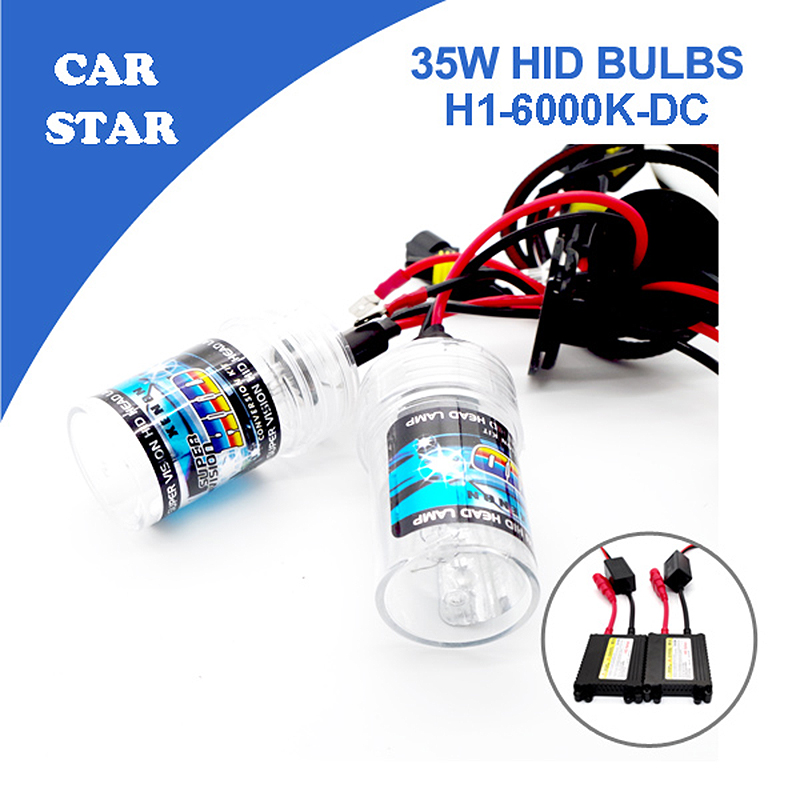 Free shipping 1set  H1 Xenon HID Conversion Kit 35W 6000K With Slim DC Ballast For Car Headlight Replacement Bulbs Big Promotion