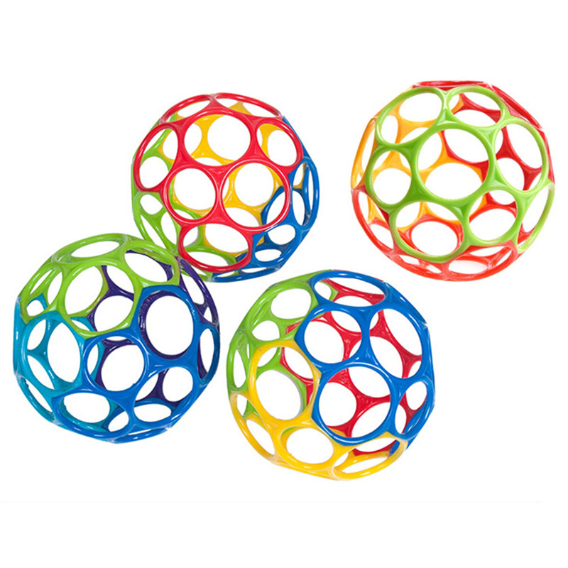 11cm Touch Bite Caught Hand Oball Ball For Baby Learning Grasping Children Gift Soft Colorful Ball Toys