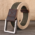 Hot Military Equipment Cinturon Men's Luxury Tactical Belts Double G Metal Buckles Thicken Canvas Belts for Male Waistband Strap