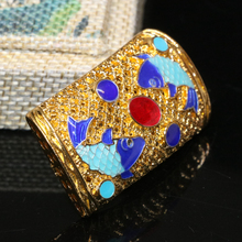 Carved mascot fishes cloisonne accessories 25*42mm new fashion high quality gold plated rectangle jewelry making 2pcs B2420