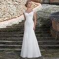 2016 Bem Projetado vestido de Chiffon Querida Cap Mangas Lace Plissadas Pavimento Comprimento Da Bainha Vestidos de Casamento Romântico vestido de Noiva Vestido de Mariage