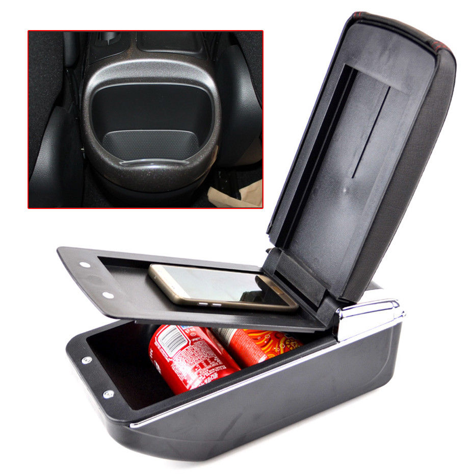 BBQ@FUKA For 2011-2017 Nissan Juke PU Leather Armrest Storage Box Tray Center Console ESQ
