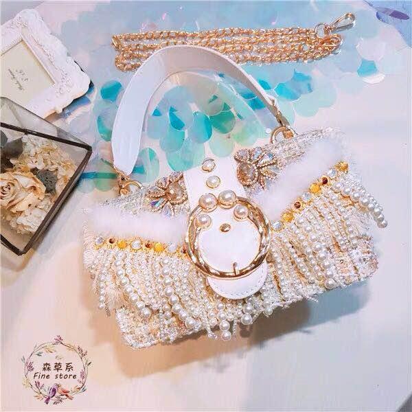 Pearl Diamond handbag 1