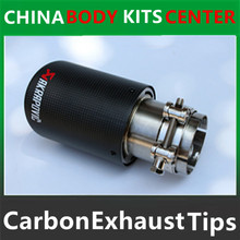 1 piece Multi Inlet 63MM Akrapovic Carbon Tip Exhaust Pipe End Pipes AK Carbon Exhaust Tips Muffler car accessories
