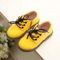 2017 primavera e no outono moda doces cor masculinos criança do sexo feminino botas de couro casual shoes solteiro shoes botas