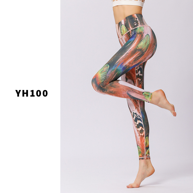 bb56119eb026d Women Slim Print Yoga Pants Quick Dry Sport Leggings Fitness Tights Jogging  Running Workout Sexy Skinny Gym High Elastic Bottoms-in Yoga Pants from  Sports ...