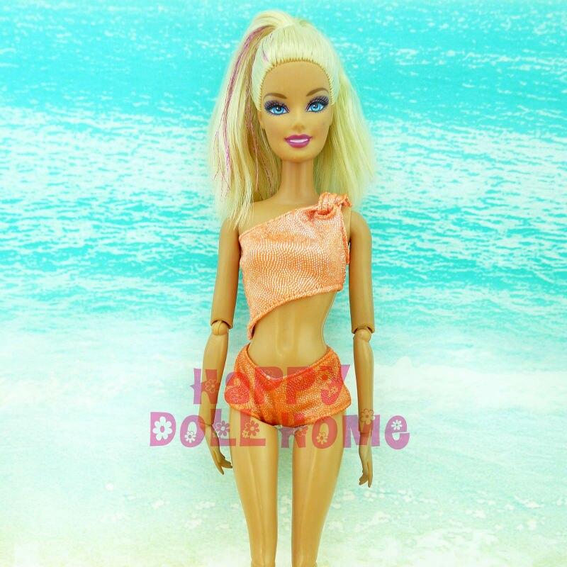 Summer time Bikini Tops Shorts Underwear Swimsuit Seashore Bathing Outfit Swimming Pool Garments Slippers Footwear For Barbie Doll Toys Reward