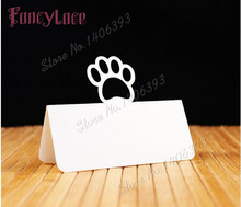 50pcs/lot new Bear's paw table decoration card Personalized Place card name card for Baby Shower Kids Birthday Party party decor 7colors new metal ball pens 50pcs a lot for sale customized gift items for birthday party
