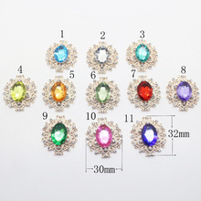 10pcs double row round pearl diamond button,19mm sew on bridal Dress accessories.