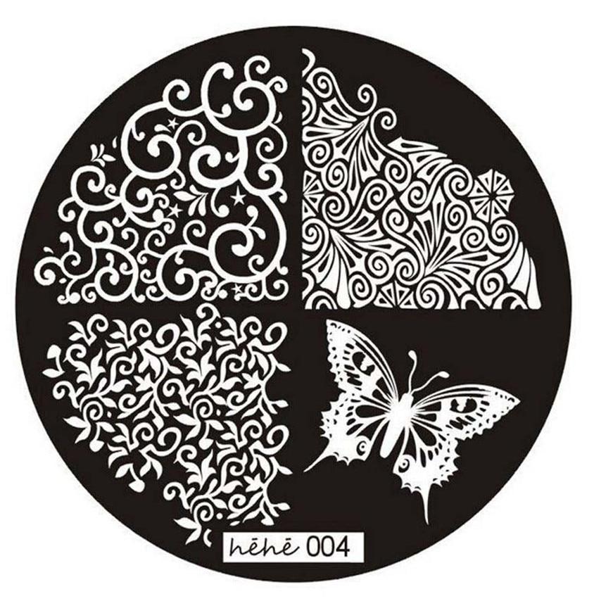 2017 A HAICAR ColorWomen 1 PCs nail art butterfly pattern manicure plate nail stamps stamping nail ART Print plate