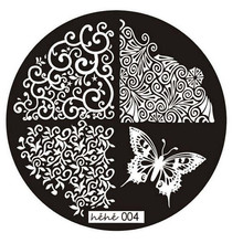 2017 A# HAICAR ColorWomen 1 PCs nail art butterfly pattern manicure plate nail stamps stamping nail ART Print plate