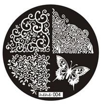 2017 A# HAICAR ColorWomen 1 PCs nail art butterfly pattern manicure plate nail stamps stamping nail ART Print plate