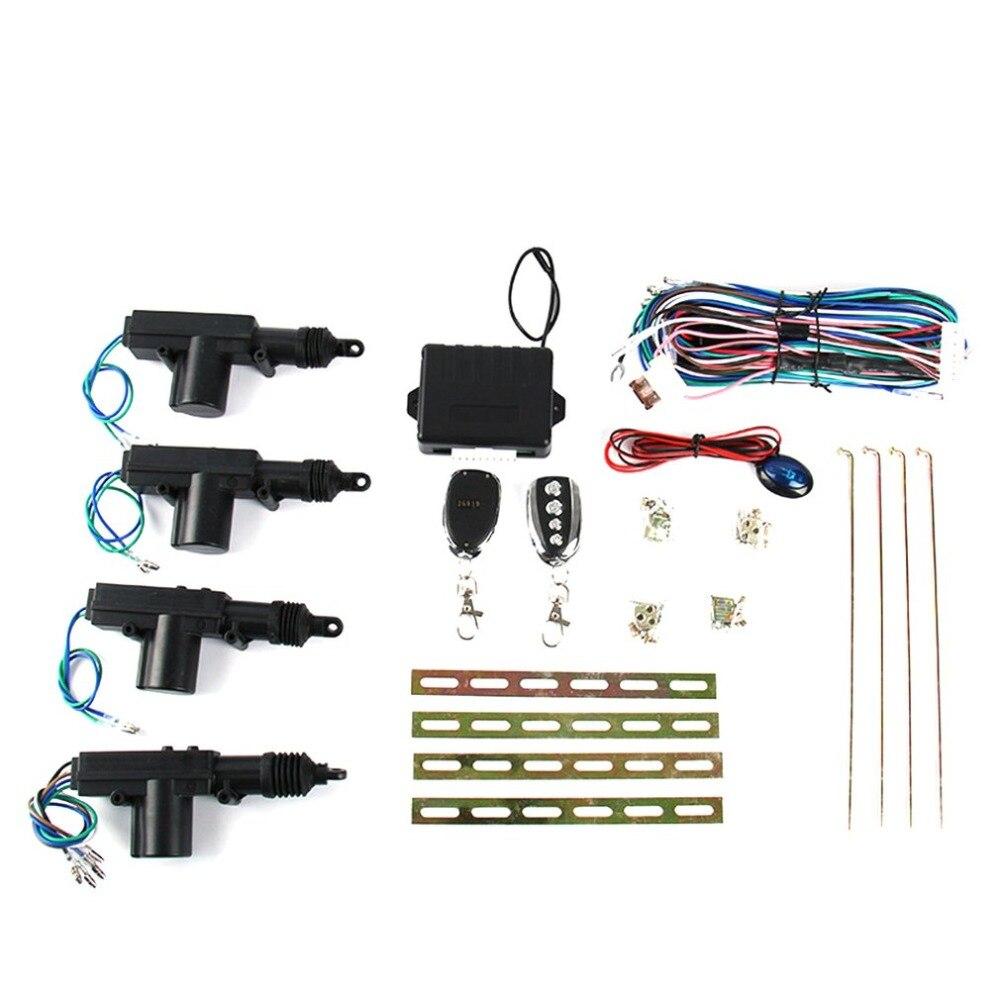 Kit de sécurité d'alarme de verrouillage Central automatique de voiture de Rotation de 360 degrés 4 système d'entrée sans clé de verrouillage de support de porte