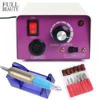 Professional Electric Nail Drill Machine Manicure Gel Polish Nail Sanding File Cutter Bit Pedicure File Tool CH#021-1
