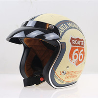 TORC T50 Route 66 Harley Motorcycle Helmet Vintage Moto Casque DOT Open Face Half Retro Electric