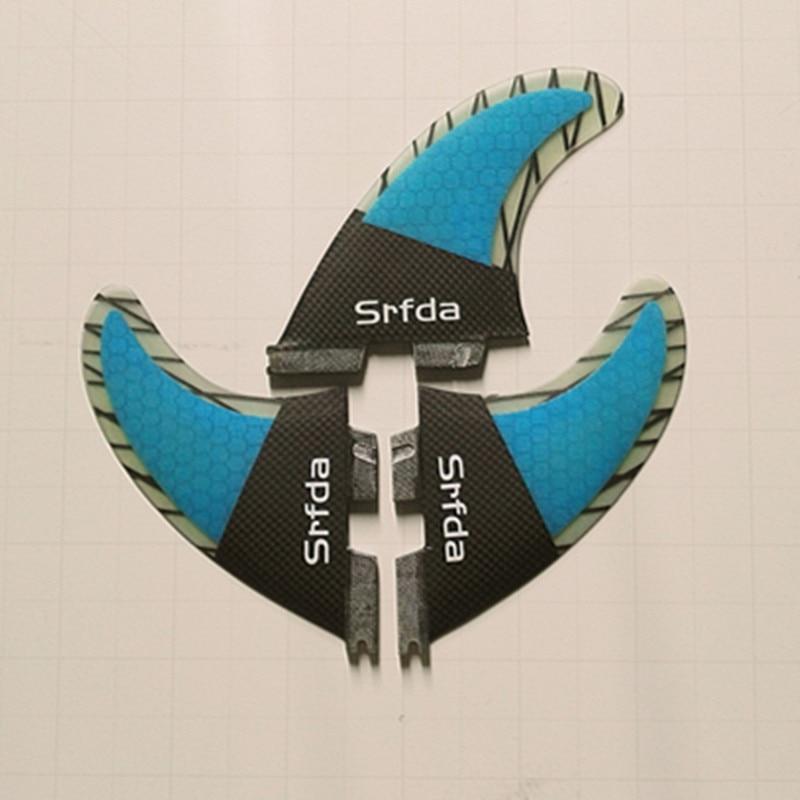 SURFBOARD FINS THRUSTER SET 3 BLUE FCS G-5 TRI NEW SURF FIN SKEG - Су спорт түрлері - фото 3