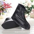 Hellozebra nueva zapatos para la lluvia cubre botas de lluvia de las mujeres sólido ocasional impermeable antifouling antideslizante plataforma botas de lluvia de las señoras 2016 luz