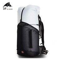 3F UL шестерни 55L большой XPAC восхождение рюкзак Открытый Сверхлегкий рамки меньше пакеты сумки легкий прочный путешествия Кемпинг пеший тури