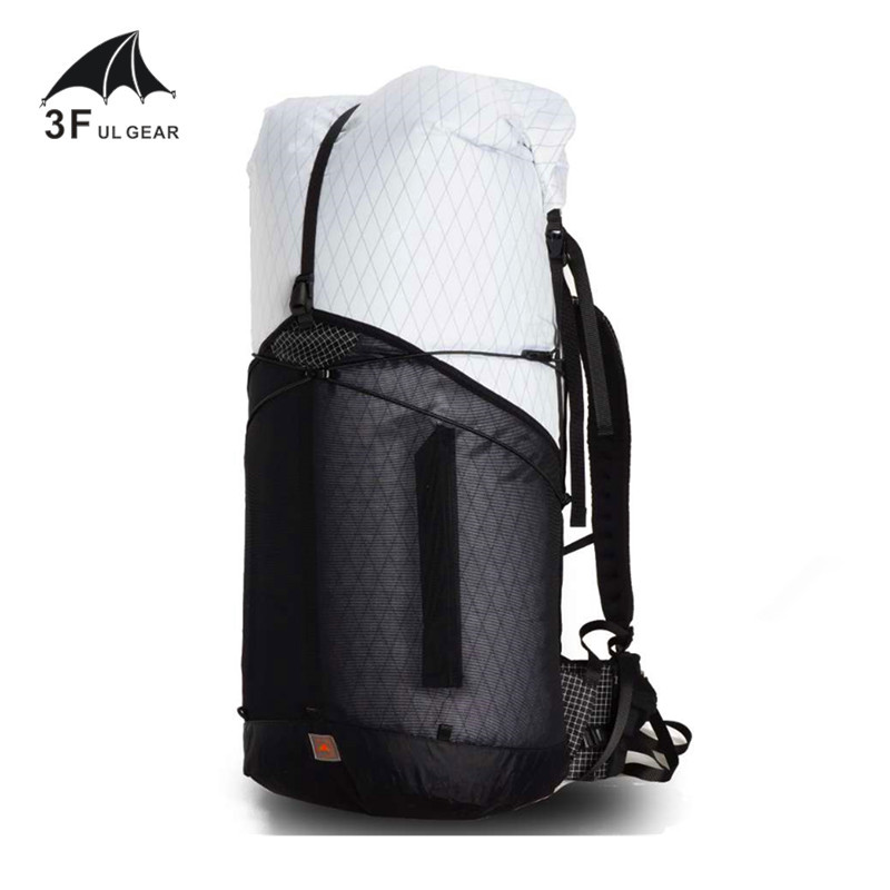 3F UL GEAR 55L Large XPAC Climbing Backpack Outdoor Ultralight Frame Less Packs Bags Lightweight Durable Travel Camping Hiking