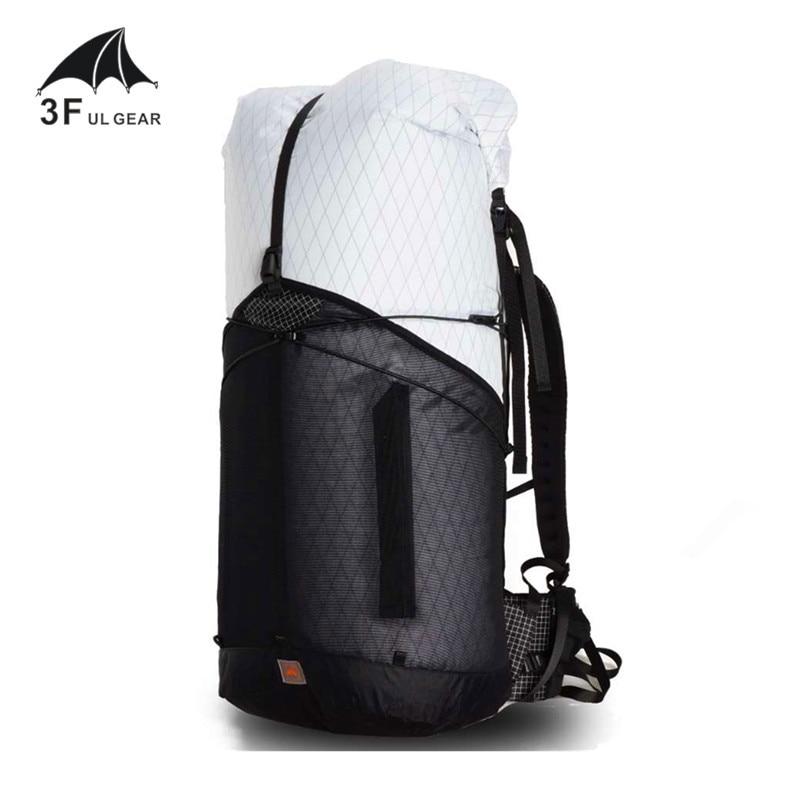 3f ul engrenagem 55l grande xpac escalada mochila ao ar livre ultraleve quadro menos pacotes sacos