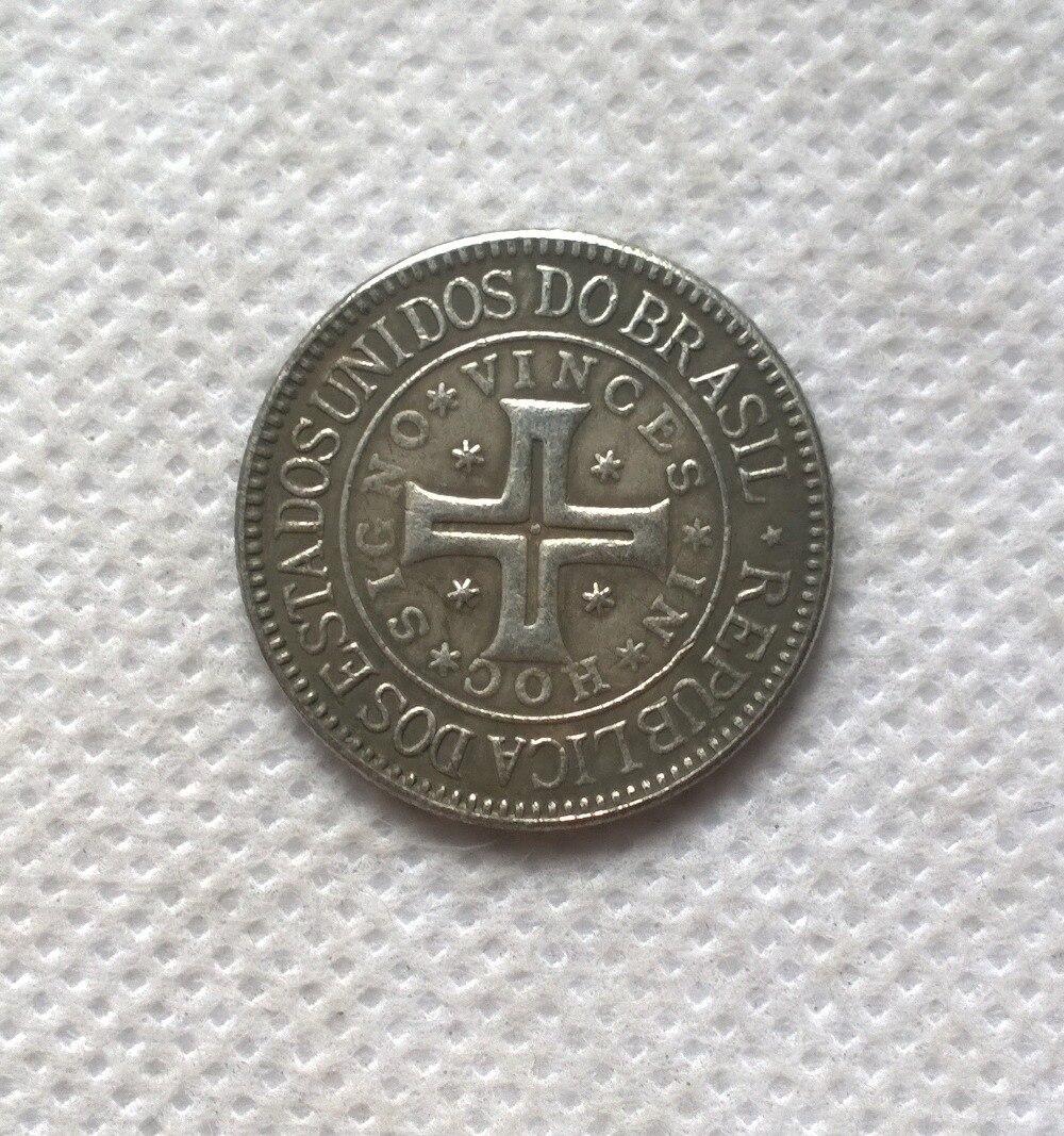 1900 Бразилия 400 Reis Монеты Скопируйте Бесплатная доставка