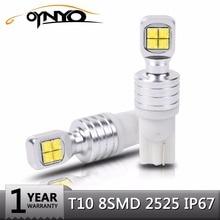 Oynyo 2x BA9S T10 светодиодный тормозной лампочки W5W 194 8SMD 2525 Авто 12 В 24 В светодиодный фонарь заднего хода габаритные огни белый 6000 К