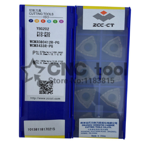 WCMX080412R PG YBG202 Zcc Cutting Blade Turning Tip suitable For U Drills WCMX080412
