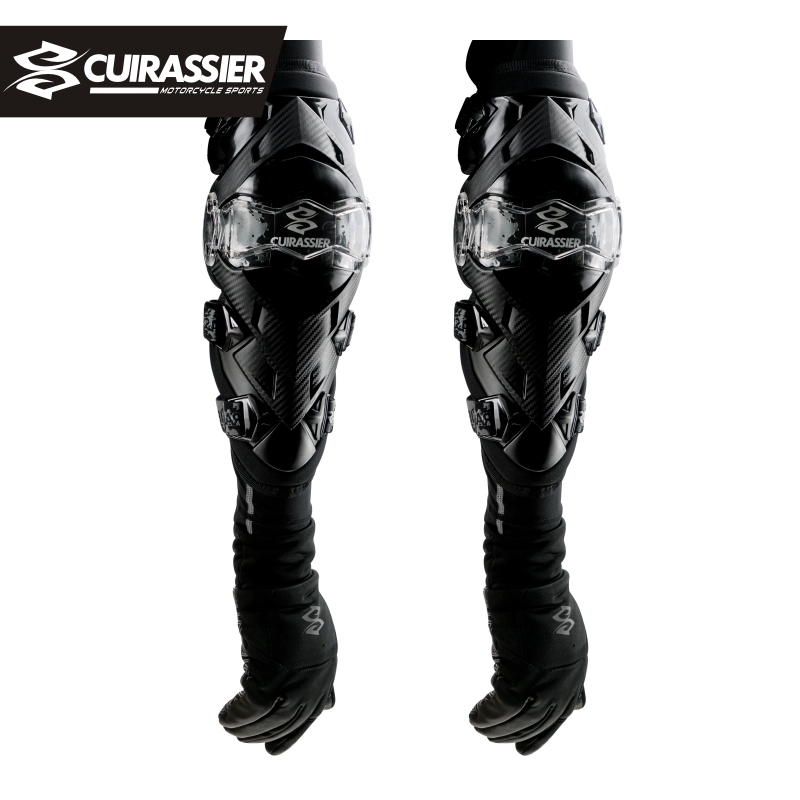 CUIRASSIER Motorcycle Knee Pads Motocross Protector MX Motorbike Kneepad Elbowpad Protective Gears MTB ATV Brace Protection Red