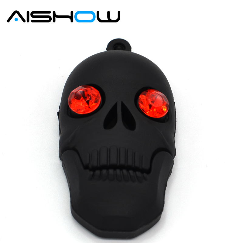 Hot Cool Skull Skeleton headshot Grim Reaper The Death ghost USB Flash drive Real 4GB 8GB 16GB 32GB Zombies memory stick U disk