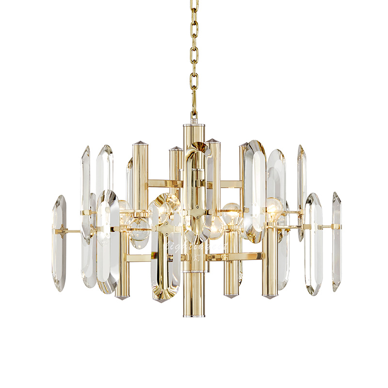 Post-modern crystal chandelier the bedroom dining room crystal pendant lamp luxury gold color crystal pendant lamp free shipping modern pendant crystal chandelier 110v 220v 28w pure white 71 60cm free shipping