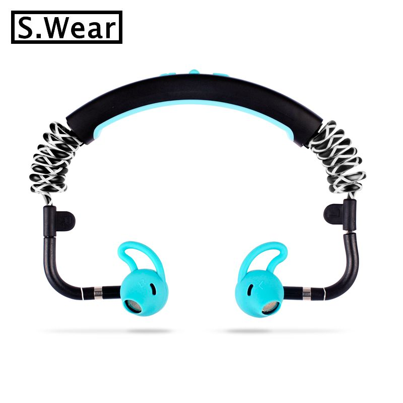Latest original S.Wear Stick Wireless Headphones Stereo Bluetooth Sports Headset with mic For Running Cycling Tranning Earphones 100% original bluetooth headset wireless headphones with mic for doogee x5 max pro earbuds