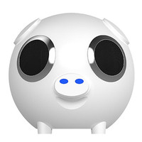 Portable Bluetooth Speaker Pig Head Audio FM Radio Phone Call Mobile Power TF Card MP3 Charging Treasure Subwoofer Stereo Player