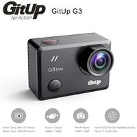 Оригинальный gitup G3 Duo Спорт действий Камера 2 К 2160p @ 24fps 2.0 Touch ЖК дисплей Экран гироскоп 170 градусов поддержка GPS ведомого Камера