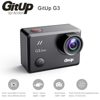 Original Gitup G3 Duo Sport Action Camera 2K 2160P@24fps 2.0 Touch LCD Screen GYRO 170 degree Support GPS Slave Camera