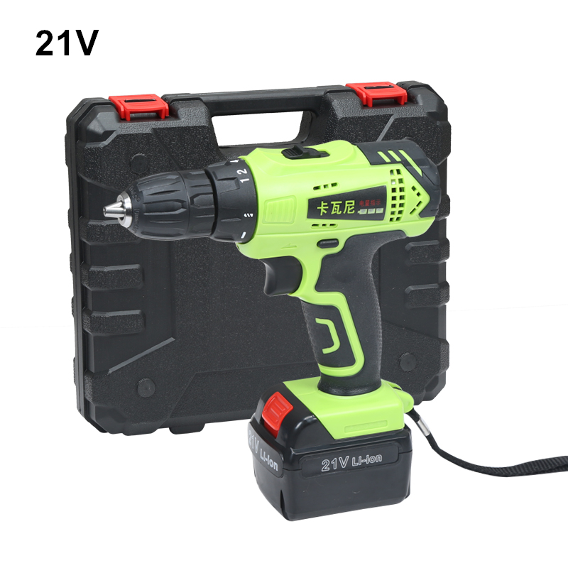 21v Cordless Screwdriver Rechargeable Drill Battery Electric Drill One Lithium Battery Plus Parts Parafusadeira Furadeira Tools стоимость