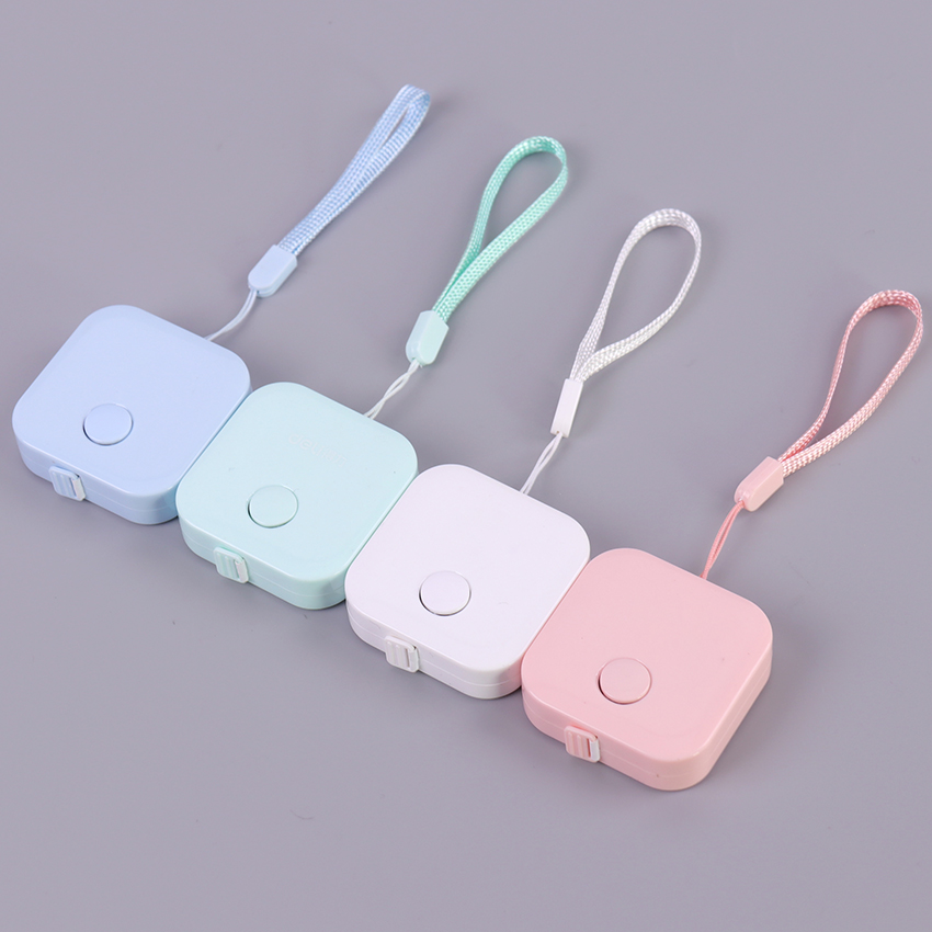 1PC Lovely Tape Measure Candy Color Leather Soft Ruler Box Portable Fashion Design School Supply