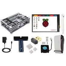 Discount! Elecrow Raspberry Pi 3 Starter Kit 3.5 Inch Touch Screen Raspberry Pi B+/ 2B/3B Power Supply Cooling Fan Heatsinks Wi-Fi Adapter