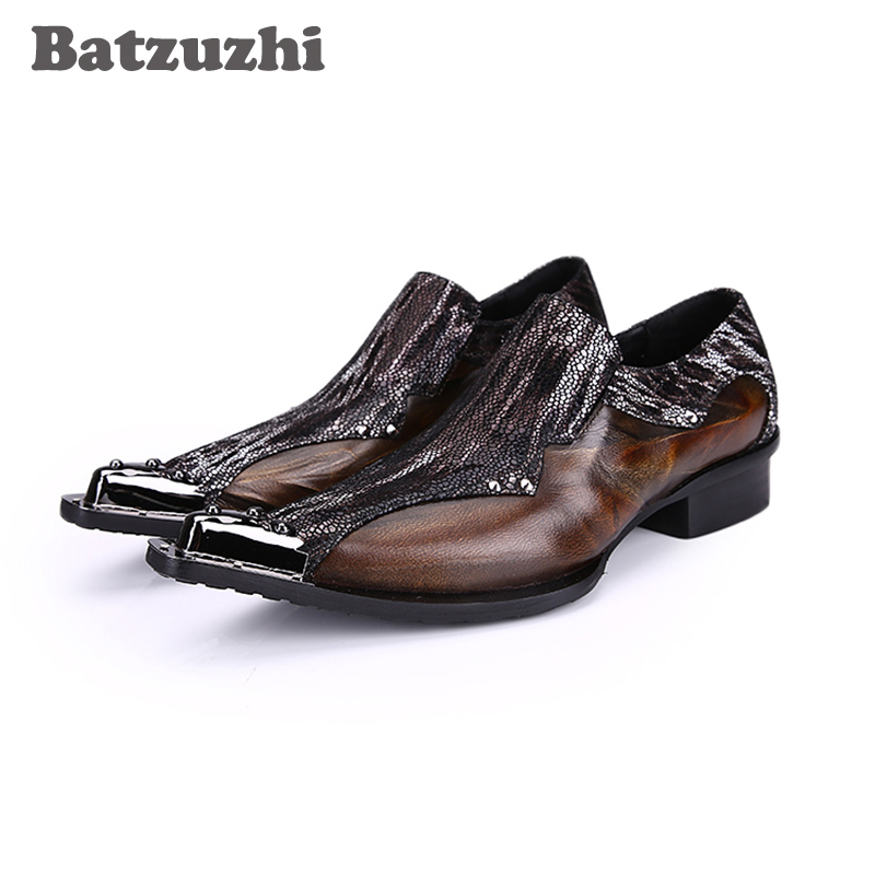 Batzuzhi Limited Edition Japanese Type Fashion Men's Leather Shoes Pointed Toe Leather Dress Shoes Men High Inreased Footwear! new mf8 eitan s star icosaix radiolarian puzzle magic cube black and primary limited edition very challenging welcome to buy
