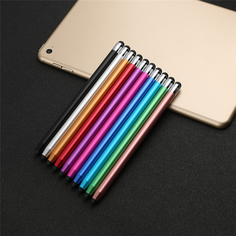 WK128 Round Dual Tips Tablet Pen Capacitive Stylus Pad Touch Screen Tools Drawing Pen Tablet PC Parts For IPhone/ipad