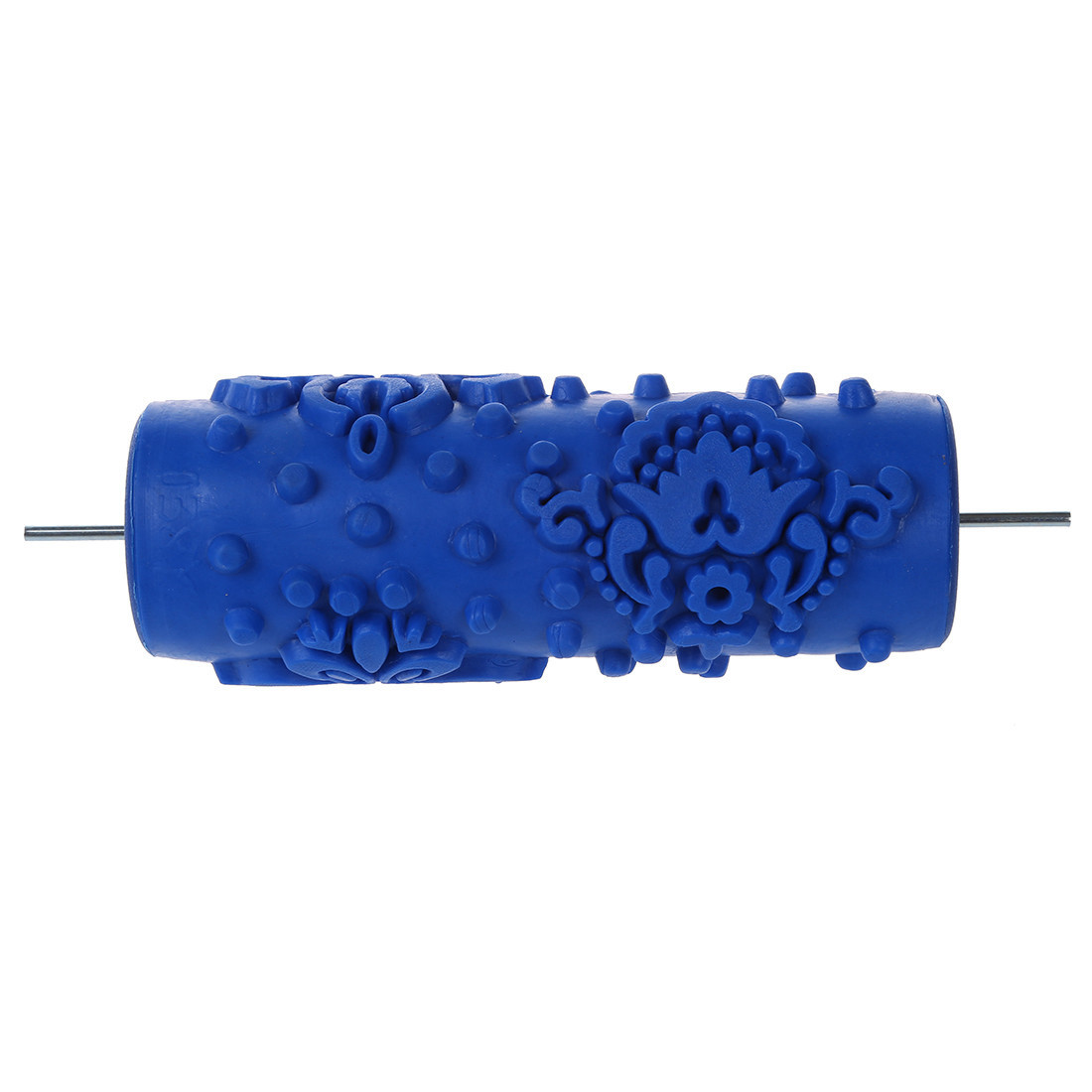 Hot Sale 15cm blue liquid decoration wallpaper painting knurled roller rubber roller without handle grip