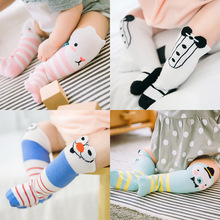 0-3Y Baby Socks Cotton Three-Dimensional Eyes In The Tube Children Cute Cartoon Striped Wholesale
