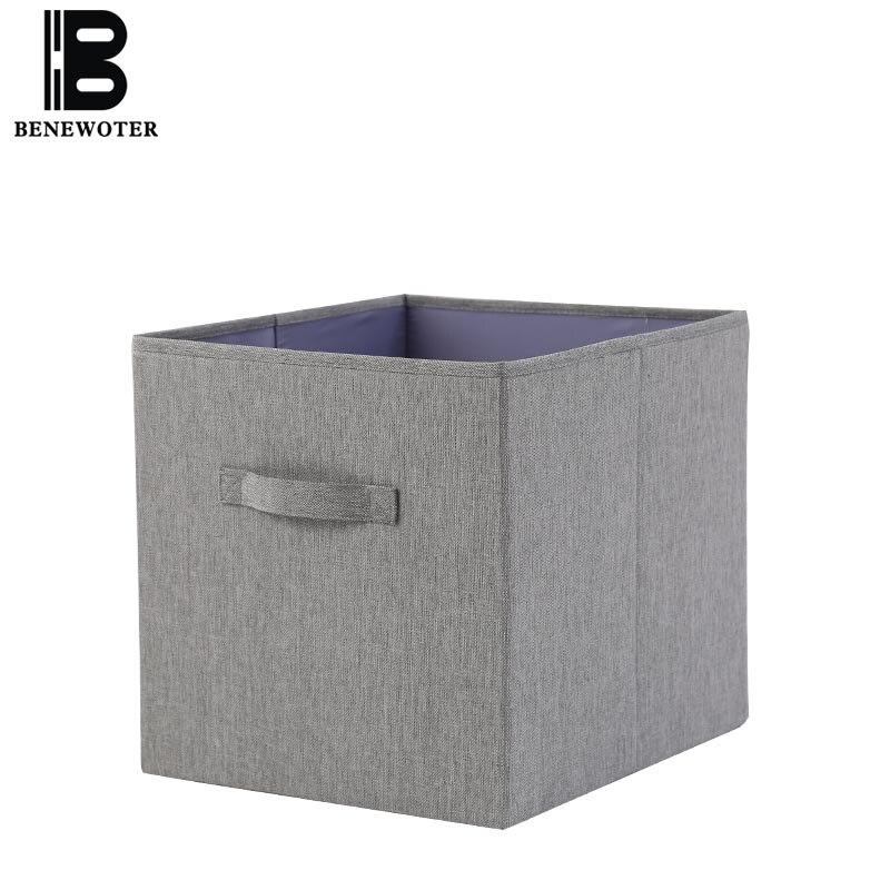 Nouveau pliable Oxford tissu boîte de rangement bureau papeterie panier de rangement maison rangement Organization placard rangement tiroir conteneur