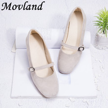 Movland-New spring&summer 2019 pure handmade sheepskin is simple and fashionable women's fashion art Retro shoes,2 colors