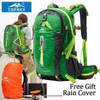 Topsky 40L Liter Professional Climbing Bags Camping Duffel Bag And Hiking Backpack Double Shoulder Mountaineer Travel
